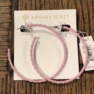 Kendra Scott Val Matte Lilac Hoop Earrings